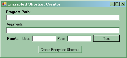 Encrypted Shortcuts with Passwords